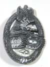 Army Panzer Assault badge in silver, no maker