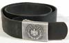 Army enlisted man's leather belt with aluminum buckle