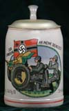 German Army beer stein for Pz. Jag. (Panzer Jager) Abtlg. 10