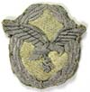 Luftwaffe officer Pilot badge in bullion for the summer uniform