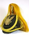 American 1880 model dress cavalry helmet with gold horse hair plume