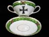 Imperial era china cup and saucer set by Saxe Austria