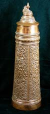 Copper clad commercial beer stein with medieval design
