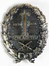 NSDAP Schlageter shield Award, second model with swords by Paul Kust