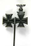 Iron Cross 1st Class with Imperial Iron Cross 1st Class with Spange stickpin