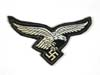Rare Luftwaffe machine woven breast eagle