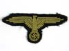 Waffen SS woven bevo enlisted tropical sleeve eagle removed from uniform