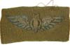USAAF Bombadier wings in bullion on olive