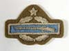 U.S. Combat Infantryman with star award in bullion on khaki for wear with the tan service blouse