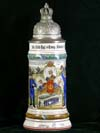 Imperial German Army stein of Ludwig Huber