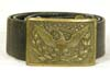 U.S. Army officer leather belt with buckle