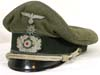 Army Transport officer's visor hat with edelweiss