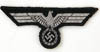Army Panzer Officer flatwire aluminum machine woven breast eagle