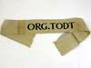 ORG. TODT nco/enlisted cufftitle