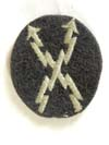 Luftwaffe teleprinter operator sleeve badge