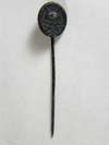 Black Wound Badge, black full-size stick pin