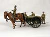 Toy Army Workshop, BS155 S.A.A. Cart, standing horses and 4 Figures