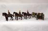 Tommy Atkins German WW2  Caisson,6 horses 3 men, cannon