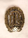 DRL badge in Bronze by WERNSTEIN JENA , D.R.G.M.  numbered 35269