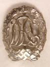 DRL badge in silver by WERNSTEIN JENA numbered 25269