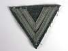 Army rank chevron for the rank of Obergefreiter on field gray wool