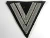 Waffen SS rank chevron for Rottenführer with two aluminum tresse