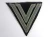 Waffen SS rank chevron for Rottenführer with subdued gray rayon tresse
