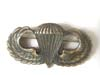 WWII US Army Paratrooper jump wings circle H in sterling