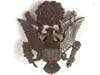 U.S. WWII Officers  blacked brass cap badge