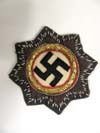Luftwaffe German Cross in Gold in metal and cloth backed