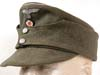Army officer M43 ( einheitsfldmutze) field hat with hand-sewn two piece insignia