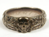 SS Totenkopfring (Honor Ring) awarded to SS officer Koisar dated 21-12-42