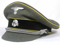 Flemish Legion/ Waffen SS old style cloth billed officer crusher cap
