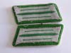 Schutzpolizei mint enlisted collar tabs set on green underlay