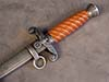 Rare early Army officer dagger with orange slanted grip by Tiger