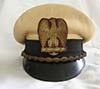Rare Italian Fascist Party visor hat with white silk top