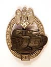 MINT Army / Waffen SS Panzer Assault 25 Engagements badge , unmarked ( RK)