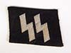 Waffen SS enlisted machine woven runic tab