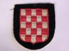 Waffen SS Kroatian volunteers sleeve shield