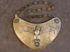 Very rare SS Standard bearer's gorget shield with accompanying display chain