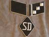 SS/SD Hauptsturmfuhrer collar tab set with rare SD officer sleeve diamond