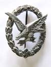 Luftwaffe Airgunner/Wireless badge by W. Deumer, Ludensheid