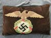 embroidered NSDAP party eagle pillow from Berghof