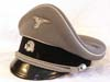 Waffen SS private purchase officer's visor by Schmid & John, Munchen