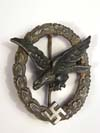 Luftwaffe Air Gunner badge by W. Deumer