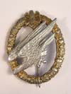 Very Rare Aluminum Army Paratrooper badge by C.E.Juncker