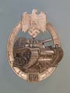 Army/Waffen SS Panzer Assault badge ( Panzerkampf - Abzeichen ) for 50 engagements marked GB