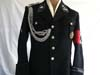 Very rare SS-Totenkopfverbande Oberbayern Hauptstürmfuhrer's black service tunic with matching breeches