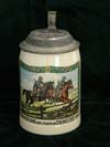 Army Cavalry Remembrance of My Service Days 1936/37 1/2 litre stein