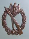 Motorized Infantry Assault badge in bronze